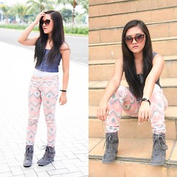 Glaiza Homez - Oxygen Top, Clothesbardavao Pants, Aldo Sunnies - To Singapore