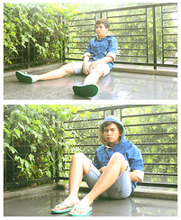 Dimszk Stywn - Undetected 2nd`Hnd Flipflop Rain Hoodie, Levi's® Shorts (Cut) - Here Comes The Rain Again