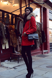 Natasha N - Kurt Geiger Ankle Boots, Woolrich Coat, Chanel Bag - Bring your coats out London