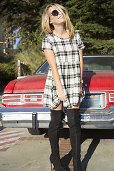 Jessica Snyder - Asos Check Dress, Topshop Black Suede Otd Boots - Check Mate.