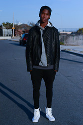 Astro Ford - Zara Leather, Adidas Slvr's - ALL THAT BLACK