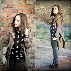 Marta O - Dorothy Perkins Brown Parka Jacket, H&M Boots, Zara Jeans - The final solution