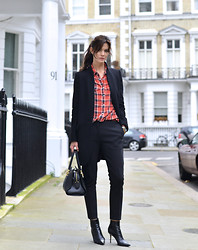 Hedvig ... - Acne Studios Wool Trousers, Ganni Shirt, Jimmy Choo Boots, Tod Bag - Femasculine