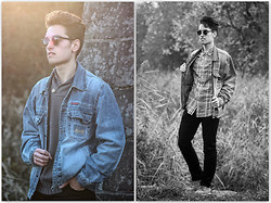 Daro K. - Mustang Denim Jacket, Sunglasses, H&M Dark Pants, Topman Shirt, Frank Wright Shoes, Reserved Jumper - Little dreams