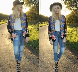 Charmaine Cowland - Zara Bomber Jacket, Hidden Fashion Patched Jeans, Topshop Sandals - 101113