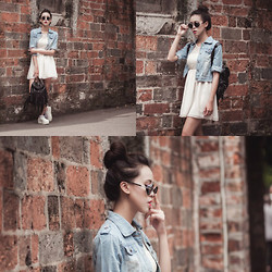 Xu Sophie - White Dress, Denim Jacket, Backpack - Once In A Miracle