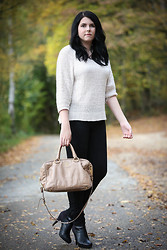Elly E. - H&M Sweater, Zara Jeans, Prada Bag, H&M Shoes - A little Glitz