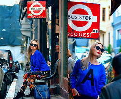 Kseniya Celikdelen - Koton Sweater, Koton Pants, Wholesale Celebshades Sunglasses - BUS STOP