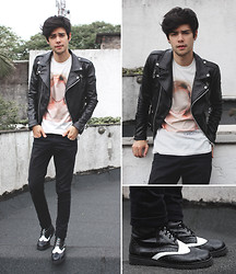 Vini Uehara - Mepcy Jacket, Amp A Mulher Do Padre T Shirt, Lathoandco Shoes - Heart Of Glass