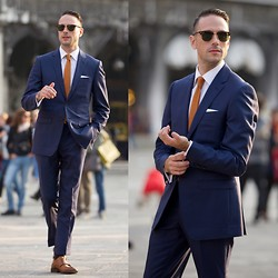 Brian Sacawa - Ray Ban Sunglasses, Qg Custom Suit, The Tie Bar, To Boot New York Shoes - Piazza San Marco