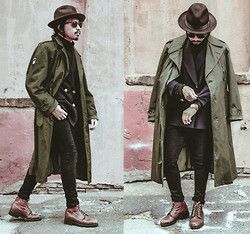 Denny Balmaceda - Another Man's Treasure Vintage Military Trench, Cheap Monday Jeans - MILITIANT.