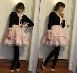 Kattoo King - Forever 21 Blouse, Target Cardigan, Angelic Pretty Skirt, Thrift Shoes - Secretary