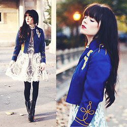 Rachel-Marie Iwanyszyn - Vintage Marching Band Jacket, Jeffrey Campbell Boots - WE'LL NEVER BE ROYALS.