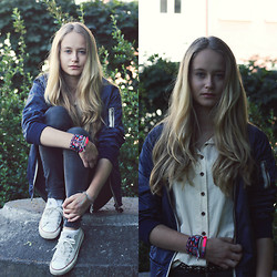 Louisa Philine W - Closed Jacket, Converse Chucks, Maison Scotch, Liebeskind Belt - OLD OLD OLD