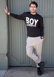 Gregory Davalos - Boy London Crew Neck Sweater, Velvet Men Sweats - CREATURE OF COMFORT