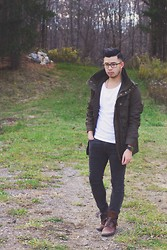 Jean-Pierre Saint-Tran - Topman Boots, H&M Jacket - A Little Romp in the Woods