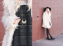 Kelli Murray Larson - Black Swan Coat, Modern Vice Boots, St. Eve Jewelry Necklace - BLACK SWAN