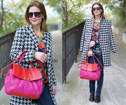 Vale ♥ - Chic Wish Coat, Daphnea Quilted Sweatshirt, Marc By Jacobs Color Block Bag, Sergio Amaranti Masculine Shoes - Mixing patterns and prints