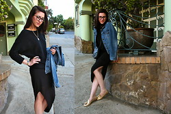 Adrienne KL - J.Crew Jacket, Bella Luxx Skirt, Prada Shoes - SLITTED
