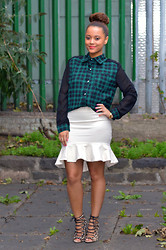 Regina Djosimar - Missguided Shirt, Zara Skirt - Green Plaid