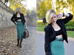 Nastacia Z - Sportstaff Jacket, Nowistyle Pencil Skirt, Zara Heels - Spicy November