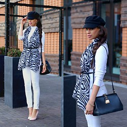 Tamara Chloe - Sqarf Scarf, Zara Jeans, Zara Heels, Supertrash Bag, H&M Hat - Wear A Scarf Like A Top