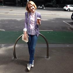 Lauren V - Topshop Jacket, Cotton On Top, Cotton On Jeans, Rubi Shoes, Topshop Handbag - Coffee in the CBD