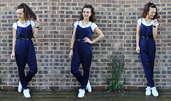 Kirsti Lee - New Look Navy Silk Jumpsuit - Ways to Style a Jumpsuit #4