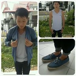 Hugo Adrian - Jacket, Watch, Paul Smith Tank Top, Westwood Shoes - Feeling Blue