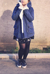 Katia - Lazy Kat - Sheinside Jacket, Motel Rocks Dress, Vans Platform Sneakers - Moon Baby