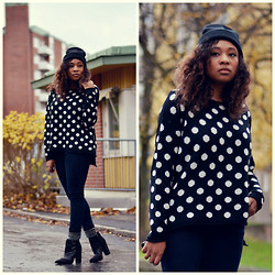 Amanda C.W - Cubus Beanie, Nelly.Com Boots - Polka dots for good luck!