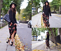 STYLISSIM . - Jarlo London Dress, Zara Boots - FLOWERS AND TARTAN