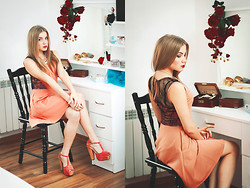 Gabriela Karbowska - Kristine's Collection Dress - Peach-coloured