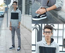 Yacine Ounassér - Pull & Bear And, H&M Pant, Vans, H&M Hm - Be Young, Be Foolish, Be Happy