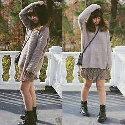 Linh Vu - Forever 21 Sweater, Pacsun Boots - Anti-Monday