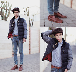 Ayoub Mani - Dolce & Gabbana Jacket Dolce&Gabbana, Polo Ralph Lauren Shirt Leuren, Topman Shoes, Zealotries Jeans - #BROWNDETAIL