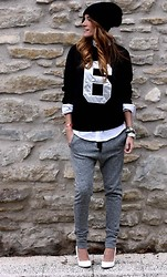 Rebel Attitude - Choies Sweatshirt, Zara Pants - Six