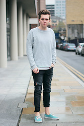 Rolandas Lušinskis - Cheap Monday Sweater, H&M Jeans, Vans Sneakers - TODAY'S OUTFIT
