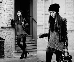Jenny Ong - Rag & Bone Loafer Boots, Asos Angora Beanie - Just enough