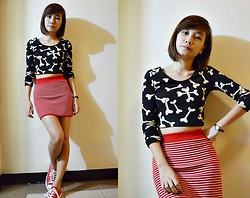 Anne Villegas - Forever 21 Crop Top, Mango Wrist Watch, Sm Dept. Store Bodycon Skirt - Come on, skinny love