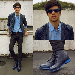 Vini Uehara - Guidomaggi Oslo Boots, Bangood Mens Fashion Zipper Stand Collar Slim Fit Pu Leather Jacket Coat, Amp A Mulher Do Padre Shirt, Glasseshop Garland - Blue Orchid