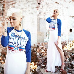Samii Ryan - Young & Reckless Shirt, Shop Wasteland Skirt, Urbanog Heels, Forever 21 Accessories - Reckless Cult