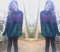 Chloe Ruth - Goodwill Vintage Sweater, Pacsun Skinny Jeans - I don't wanna be alone forever but I love Gypsy life