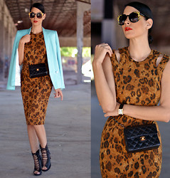 Konstantina Tzagaraki - Dress, Chanel Bag, Booties, Sunglasses - Keep your best thoughts to your heart & watch what happens..
