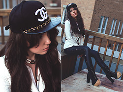 Line Vanille - Cap, Leggings, Shoes, Necklace - Trill4 chanel