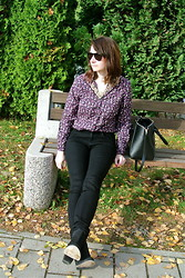 Maja R. - Lacoste Sunnies, C&A Blouse, Primark Bag, H&M Jeans, Topshop Ankle Boots - I could show you