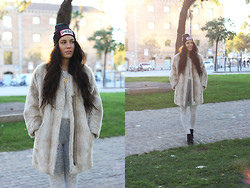 Taru L - Topshop Fake Fur (Got It Secondhand), Dimepiece Beanie, Vagabond Dioon Boots - DimePiece