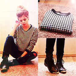 Nesairah Nesstyle - Pull & Bear Blouse - Cheerful check