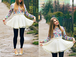 Gabriela Karbowska - Persun Sweater, Converse Trainers - Rainbow sweater & GIVEAWAY