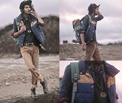 Bobby Raffin - Pendleton The Plattan Edition X Urbanears Headphones, Big Star Usa Orche Straight Leg Jeans, Camper Pelotas Shoes, Richer Poorer Mustard Socks, Electric Visual Movember Fitted Cap, Universal Pixel Dark Stardust Tee, Electric Visual Colour Block Backpack, Chellmy Jewellery Smiley Carved Necklace, Electric Visual Leather Buckled Belt, Bang On! Synthetic Raccoon Tail, Thrifted Plaid Flannel, Black Market Winter Vest - Rural World